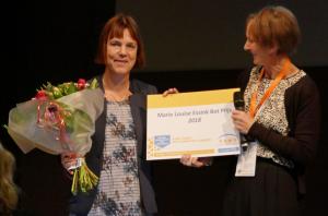 Uitreiking prijs aan Eveline Vlaanderen